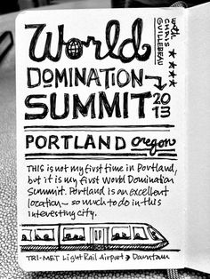 Can't get enough of these Mike Rohde Sketchnotes from the World Domination Summit 2013 #wds2013