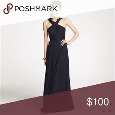 Jcrew Wedding Halter Dress Style 47994. Black. Reposh because it didn't fit me. Beautiful neckline and floor length. Just needs to be dry cleaned. J. Crew Dresses Wedding