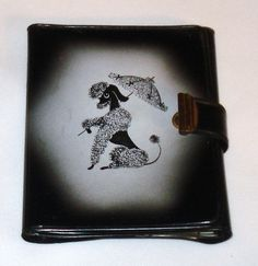 Vintage Retro French Poodle Ladies Wallet Vinyl