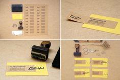 tarjetas de visita handmade - sello