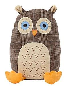 Owl doorstop for the kitchen door perfect for summer....