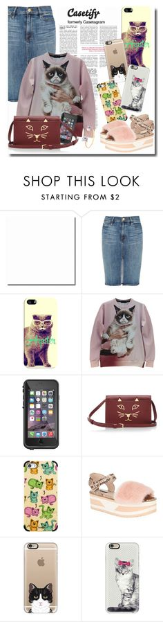 """""""Casetify cat"""" by chixdejesus ❤ liked on Polyvore featuring Casetify, Frame Denim, LifeProof, Charlotte Olympia, Dolce&Gabbana and Nach"""