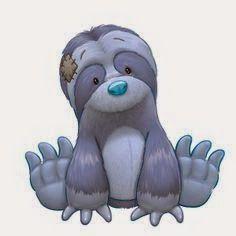 Bicho preguiça - My Blue Nose Friends Snoozi the Sloth Tatty Teddy, Animal Drawings, Cute Drawings, Cute Images, Cute Pictures, Baby Animals, Cute Animals, Blue Nose Friends, Baby Art