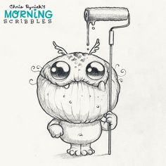 Happy First Scribble of 2016! Sorry for the lack of posts this week, I've been working on a lot of pesky home improvement projects! 🛠💸⏱#morningscribbles