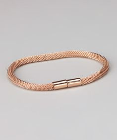 Take a look at this Rose Gold Mesh Bracelet by Jewelry Like the Rich on #zulily today!