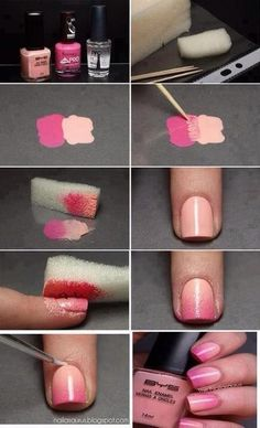 Easy Ombré Nail Art:) Step By Step With Pictures