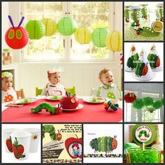 I really want Emma to have a very hungry hungry caterpillar first birthday party! The Very Hungry Caterpillar Birthday: Guides, Tips & Videos Birthday Fun, First Birthday Parties, First Birthdays, Birthday Ideas, Special Birthday, Birthday Decorations, Fabulous Birthday, Hungry Caterpillar Party
