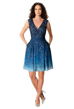 Long Torso, Formal Dresses For Women, Womens Size Chart, Collar Styles, Crepe Dress, Types Of Sleeves, Fit And Flare, Sleeve Styles, Dresses Online
