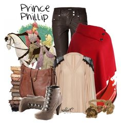 """Prince Phillip - Someday We'll Know - Disney's Sleeping Beauty"" by rubytyra ❤ liked on Polyvore featuring Balmain, Estée Lauder, Urban Decay, Alice + Olivia, Frye, Aurélie Bidermann, disney, sleepingbeauty, disneybound and song"