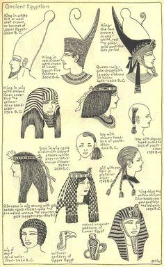 coiffure egypte antique
