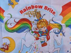 Twin Bed Sheets, Vintage Twins, Rainbow Brite, Baby Room Decor, Flat Sheets, Home Decor Items, Gifts For Him, Childhood Memories, Vintage Items