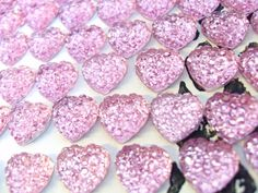 100x 10mm Pink Rhinestone Heart Cabochons by CuteCornwall on Etsy, £2.00