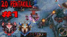 Ranked Solo/Duo Pentakill Series #1 (Euw, Kr, Na, Tr,Br, Lan, Eune ) Cha...