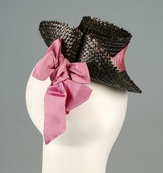 doll hats Doll hat House of Schiaparelli (French, Designer: Elsa Schiaparelli (Italian, Date: fall 1938 Culture: French Medium: Straw, silk 1930s Fashion, Fashion Dolls, Vintage Fashion, Fashion Hats, Vintage Style, Elsa Schiaparelli, 1930s Hats, Italian Fashion Designers, Costume Collection