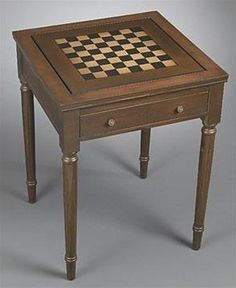 Brown Game Table With One Drawer 45996. h1Brown Game Table With One Drawer 45996_h1This eminently practical and handsome Brown Game Table With One Drawer 45996 features a medium brown finish, a built-in chess_checker board, and one drawer.. See More Game Tables at http://www.ourgreatshop.com/Game-Tables-C1088.aspx