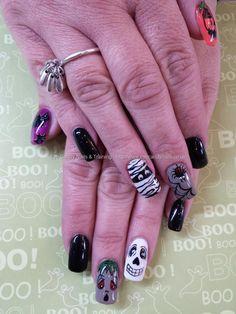 freehand+halloween+nail+art
