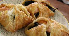 Zalm pasteitjes gemaakt van bladerdeeg. Lekker als warm lunchgerecht of voorgerecht.