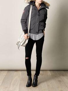 Cheap Canada Goose, Canada Goose Fashion, Canada Goose Jackets, Star Fashion, Fashion Bags, Women's Fashion, Fashion Outfits, Fall Outfits, Casual Outfits
