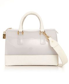 Furla Handbag, Candy Two Tone Croco Bauletto Bag - Macy's $428