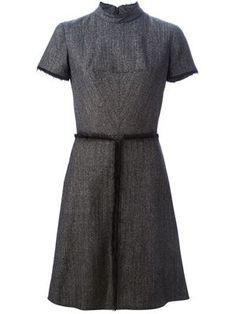 платье А-силуэта с необработанными краями