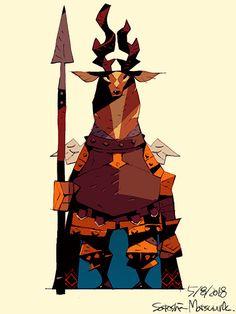 ArtStation - Deer Knight, Satoshi Matsuura