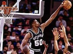 The player: A taller, more skilled version of Russell, Robinson possessed all the gifts -- he blocked shots, rebounded, scored and defended. The Admiral brought incredible quickness to the center position and competed at a supreme level with grace. David Robinson, Pro Basketball, Nba Champions, San Antonio Spurs, Sports Photos, Rebounding, 1990s, Athletes, All Star
