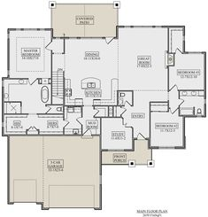 Craftsman Plan: Square Feet, 3 Bedrooms, Bathrooms - - My best decoration list Best House Plans, Dream House Plans, House Floor Plans, Dream Houses, Murphy Bed Plans, House Blueprints, Craftsman House Plans, Good House, Tiny House