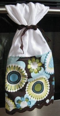 Method for keeping the towel on the oven door- and cute sewing project