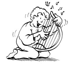 David mit Harfe
