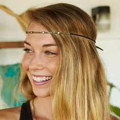 Gypsy Headband/Chokers - Get so many different looks with these pieces... wear it as a headband, crown or choker necklace! They feature rhinestones, gold beads and suede ties for a perfect everyday or festival look!
