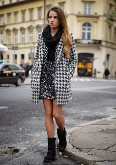 Houndstooth is hot for the this season. See Selected Femme coat here at Sunday Best Online: http://www.sundaybestonline.co.uk/designers/s/selected-femme/selected-femme-hiro-coat-black-white