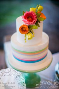 """brights"" cake made for Bride to Be magazine by Faye Cahill Cake Design"