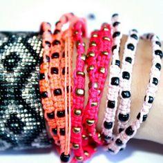 "Ketzali Jewelry - Ketzali ""Xubal Handmade Triple Wrap Bracelet"""