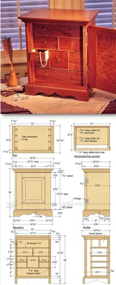 Jewelry Box Plans - Woodworking Plans and Projects | WoodArchivist.com
