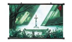 """The Legend of Zelda 25th Anniversary Master Sword Game Fabric Wall Scroll Poster (32"""" x 20"""") Inches"""
