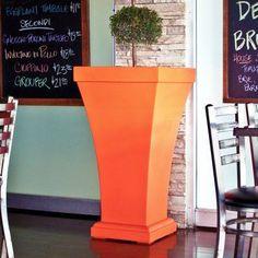 Mayne Bordeaux 40 in. Polyethylene Planter Coral Orange
