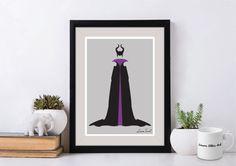 Disney Villain Maleficent Poster/Print  minimalist sleeping