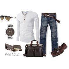 """""""Men's Relaxed"""" by keri-cruz on Polyvore"""