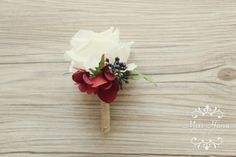 Hey, I found this really awesome Etsy listing at https://www.etsy.com/listing/174796925/rustic-boutonniere-burgundy-hydrangea