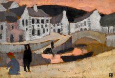 Roger de La Fresnaye, The Canal, Brittany Landscape (1909) on ArtStack #roger-de-la-fresnaye #art