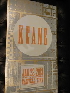 Keane Hatch Show Print Ryman 1 23 2013