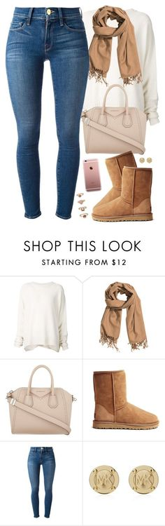 """fall mood"" by daisym0nste ❤ liked on Polyvore featuring URBAN ZEN, H&M, Givenchy, UGG Australia, Frame Denim, Michael Kors and Forever 21"