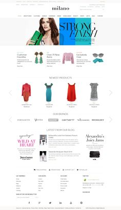 An E-Commerce Design - Desktop Layout