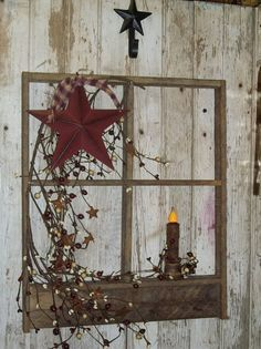 Wood Tobacco Lath Window with Pegs by Waynesshop on Etsy, $39.99