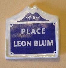 Fève du MH 2000 - Places de Paris : La Place Léon Blum