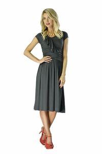 """""""Ellie"""" Modest Dress in Dark Grey *Restocked*"""