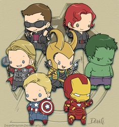 Avengers chibies by *DeanGrayson