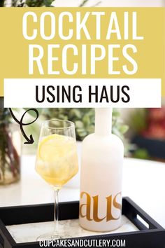 These easy cocktail recipes are unique and flavorful thanks to a variety of Haus flavors. These aperitif wines are complex and make a great mixer for vodka, bourbon, tequila and more! If you love making cocktails at home, you've got to check out these recipes. Wine Cocktails, Easy Cocktails, Cocktail Recipes, Tequila, Vodka, Easy Mixed Drinks, Lavender Lemonade, Cocktail Making, Ginger Beer