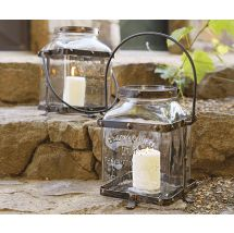 Toscana Glass & Metal Lantern