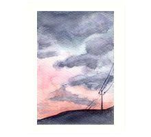 'Painted Sky - Watercolour Painting' Art Print by Patricia Tokarz Thing 1, Large Prints, Watercolour Painting, Sunset Art, Scenery, Pastel, Tapestry, Clouds, Sky